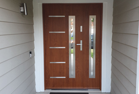 Front Doors With Side Panel Glass Panel Double Doors,New Born Baby Welcome Home Decoration Ideas