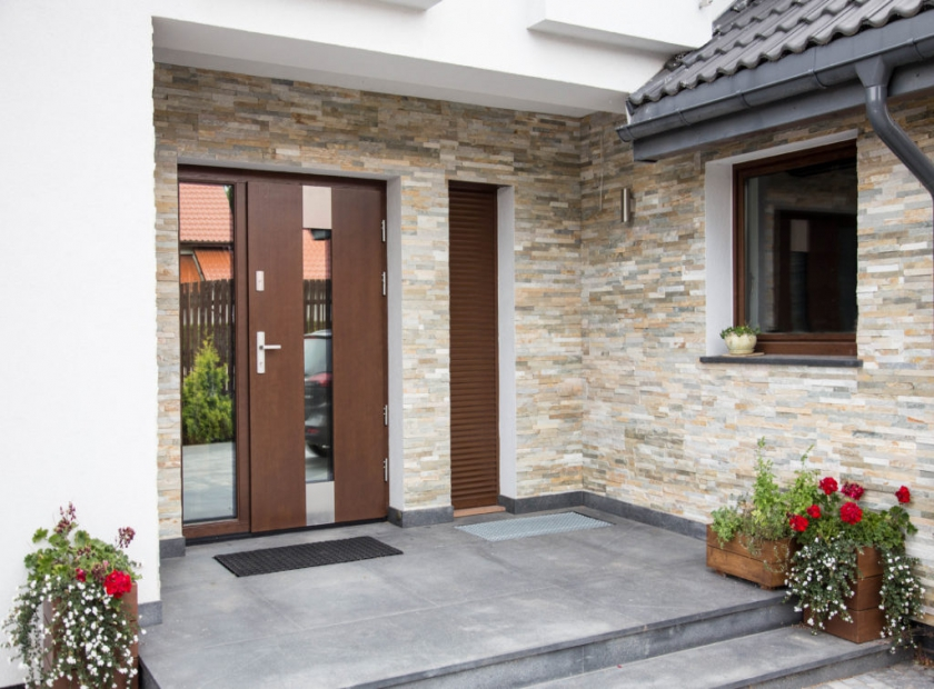 Exterior Entrance Door For An Apartment And A House