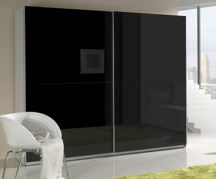 Presta Black sliding wardrobe doors