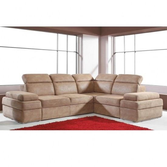 Oslo II - Faux leather corner sofa