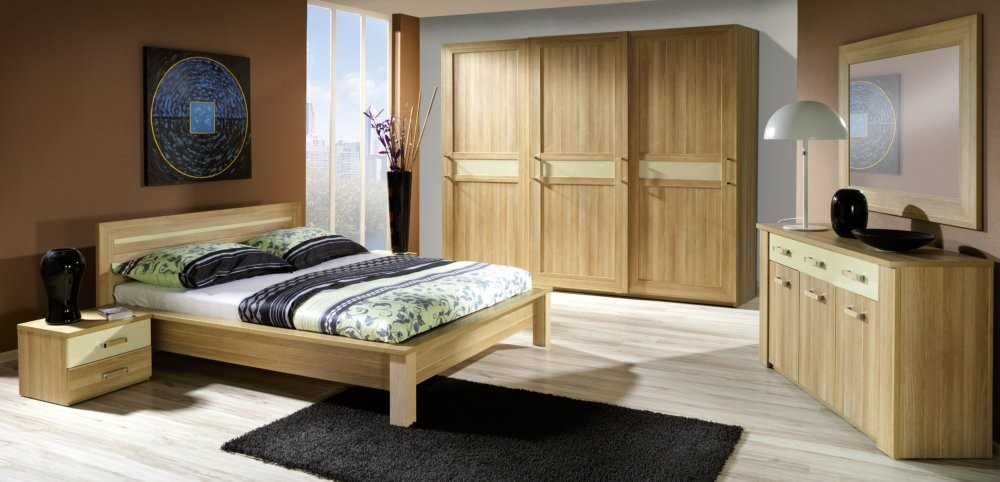 Memphis - oak bedroom set