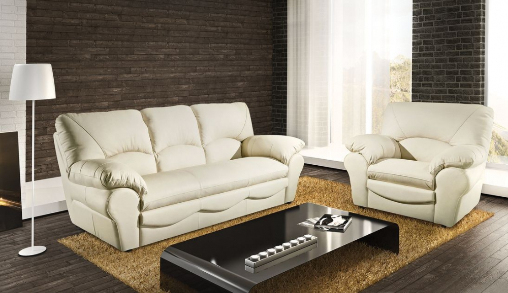 Oslo D - Leather two seater sofas