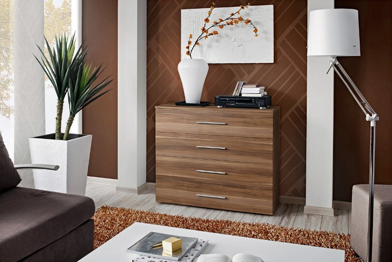 SB GO 4 - Plum 4 drawer dresser