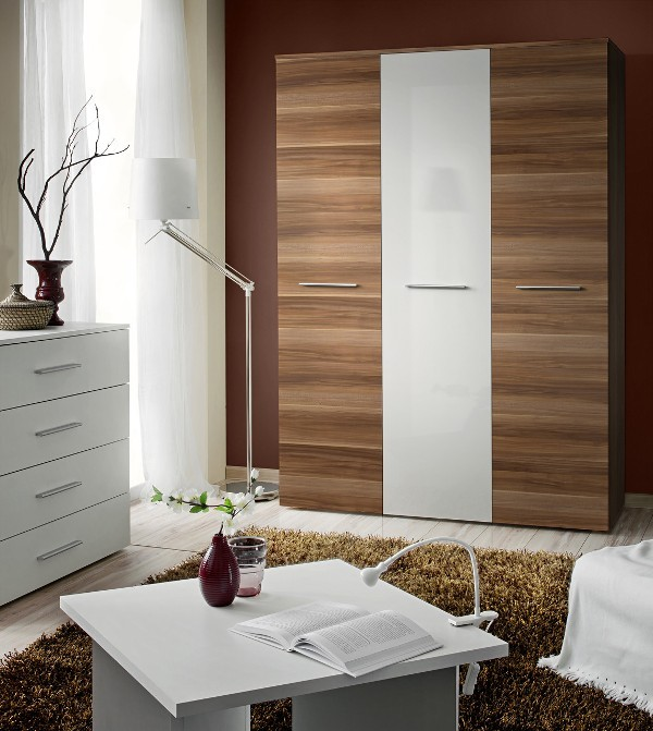 Wardrobe 135a - Plum and white wardrobe