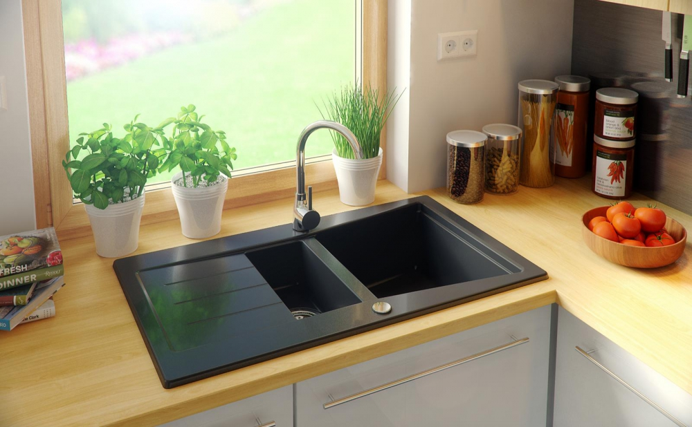 PN-Midland granite composite kitchen sinks