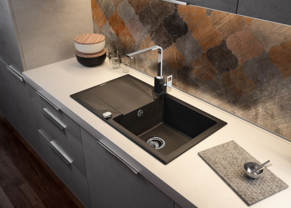 DE-Evo 1 granite composite kitchen sinks