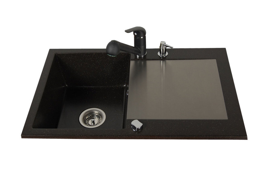 BR-Alkor 10 - granite sands inset kitchen sink
