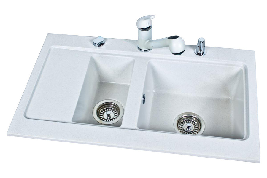BR-Nubiru 2 - 1,5 basin composite granite kitchen sink