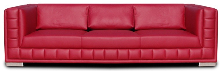 Atlantic3 - faux leather red sofa