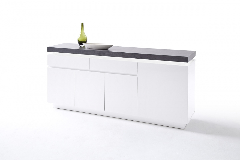 ATLANTA typ 74 - white black chest of drawers