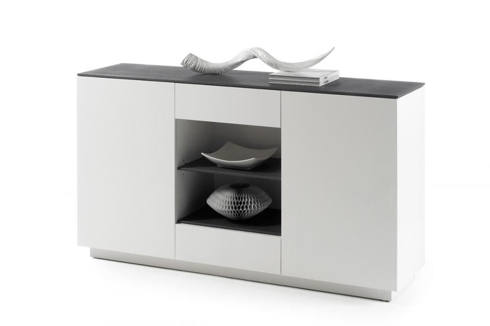 Darwin typ 53 - white black chest of drawers