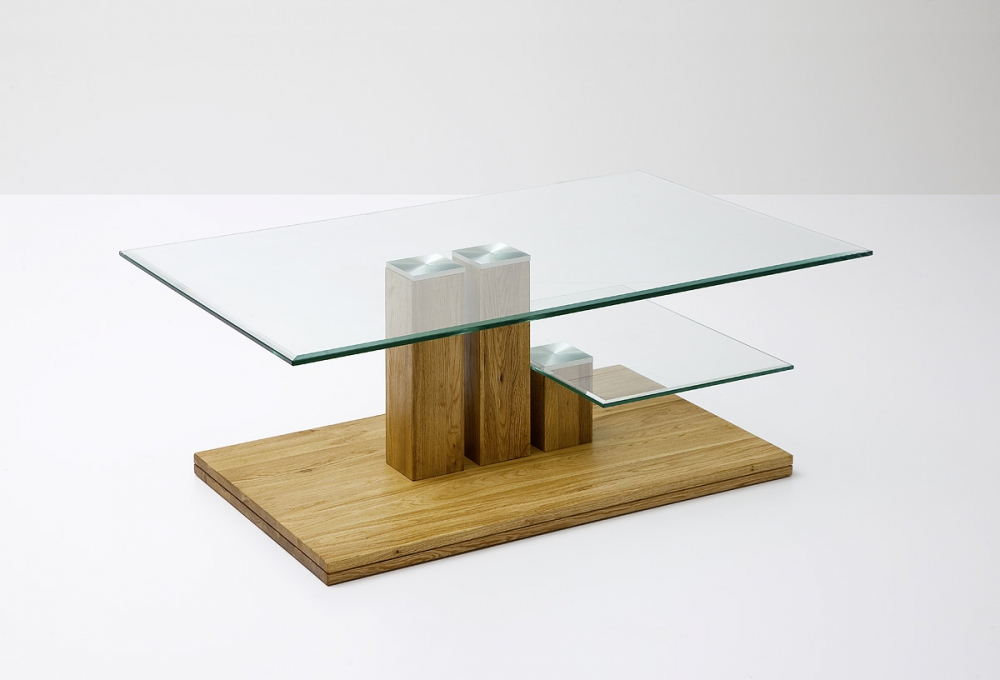 Paco - square glass coffee table