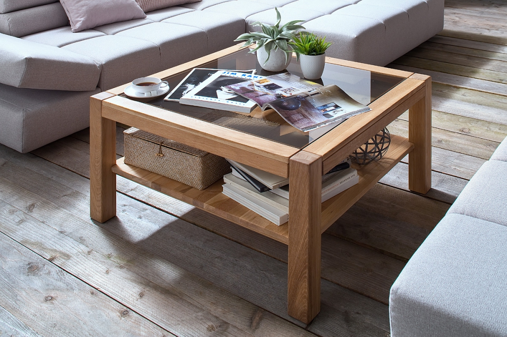 Madlen - square glass coffee table