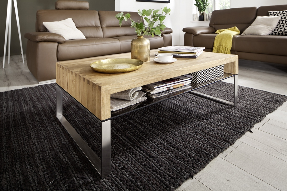 Hilary - wood oak coffee table