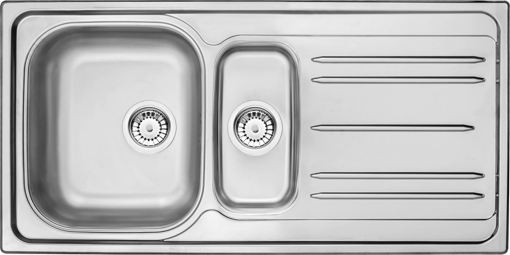 DE-Maredo 2 stainless steel sink
