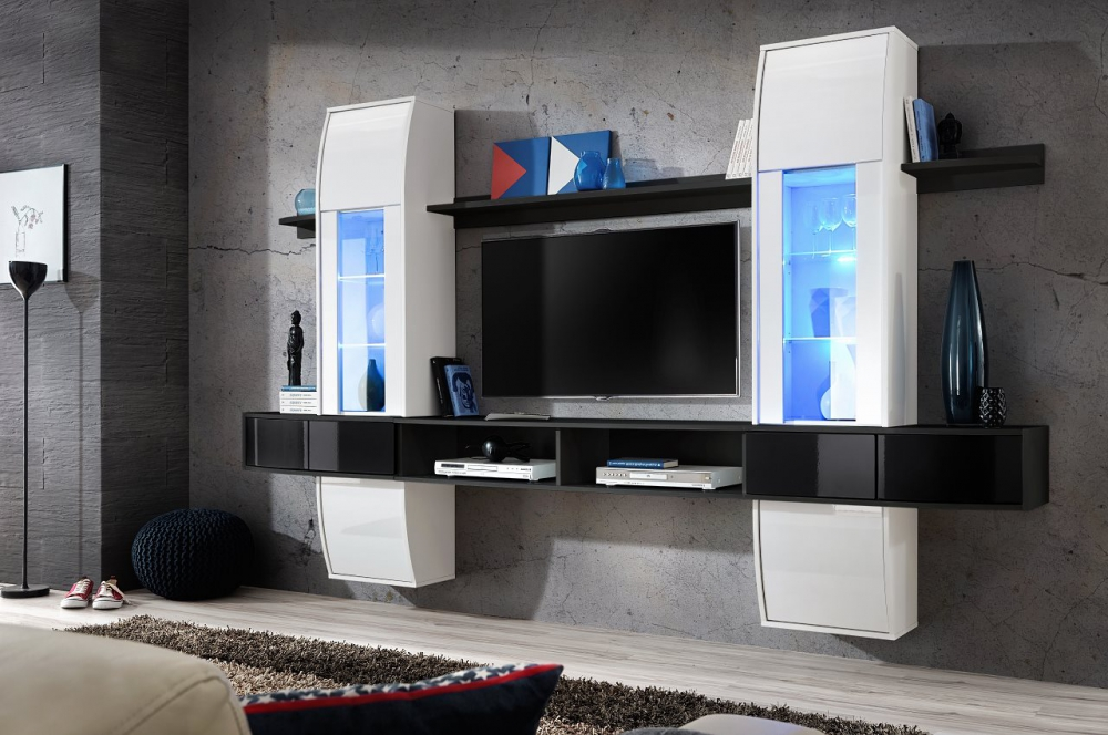 Cary 1 - solid modern entertainment wall unit