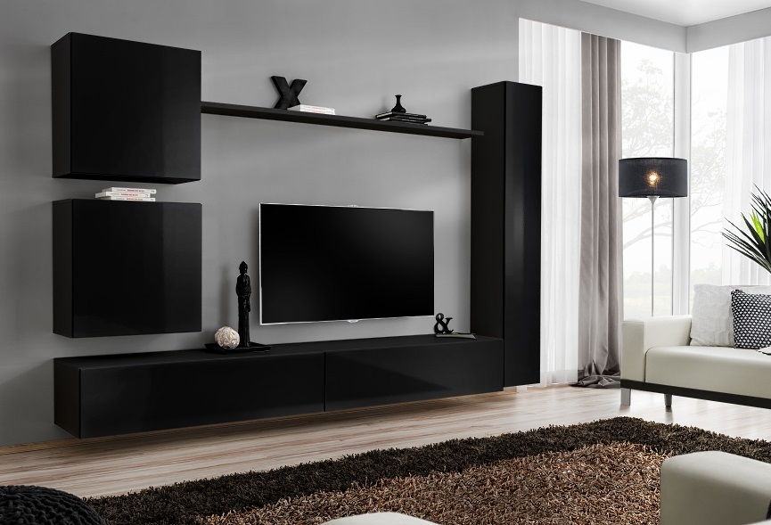 Shift 8 - black entertainment center