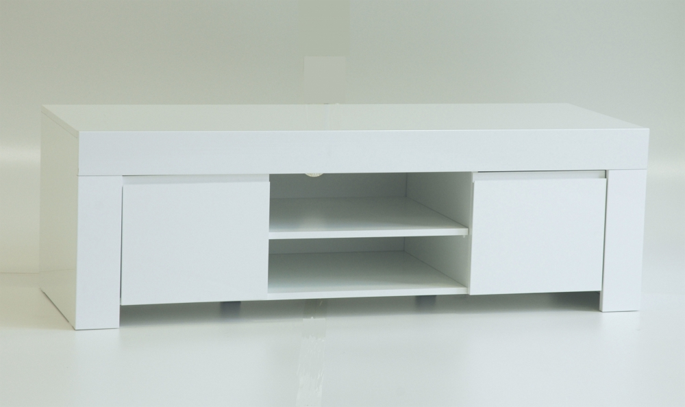 Amalfi - TV stand MDF white gloss