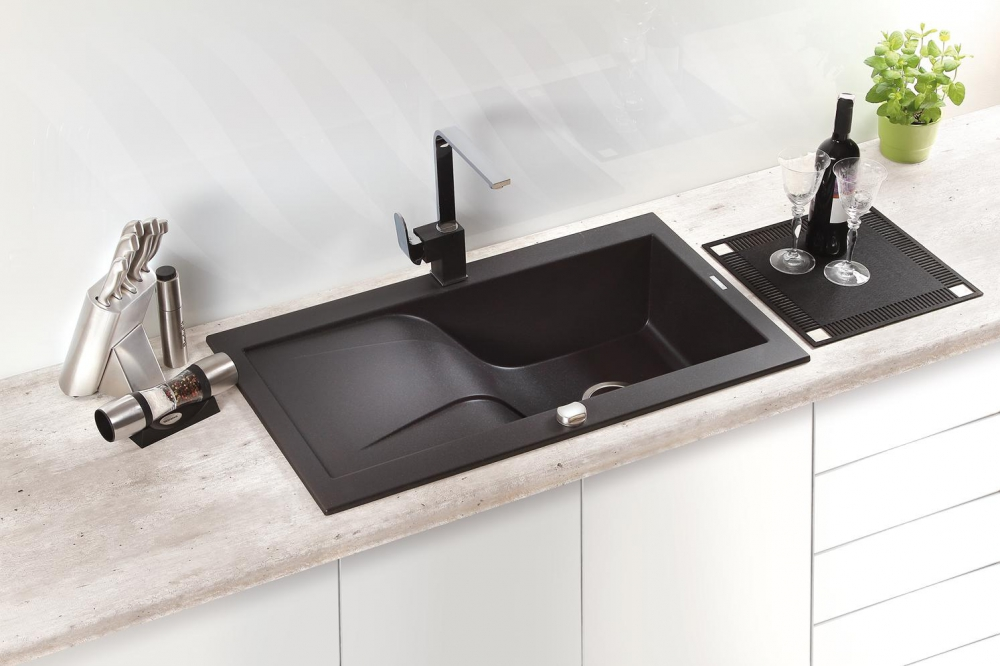 DE-Rodia white granite kitchen sink