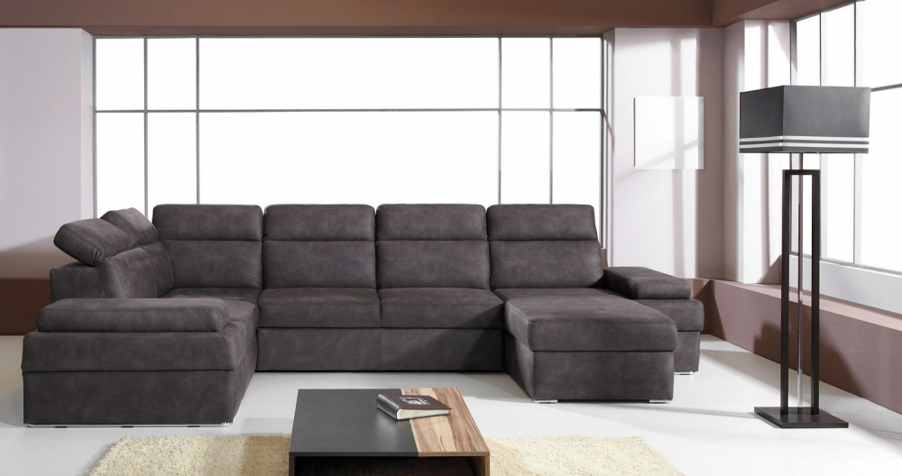 Oslo I - Large faux leather corner sofa