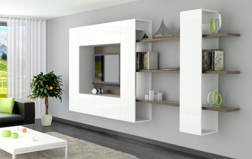 Brin 5 - wall mounted tv cabinet