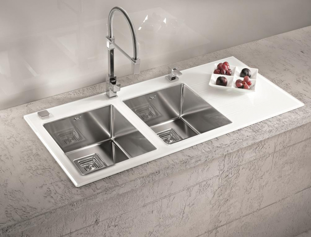 AS-Crystall 30 inset sink, glass