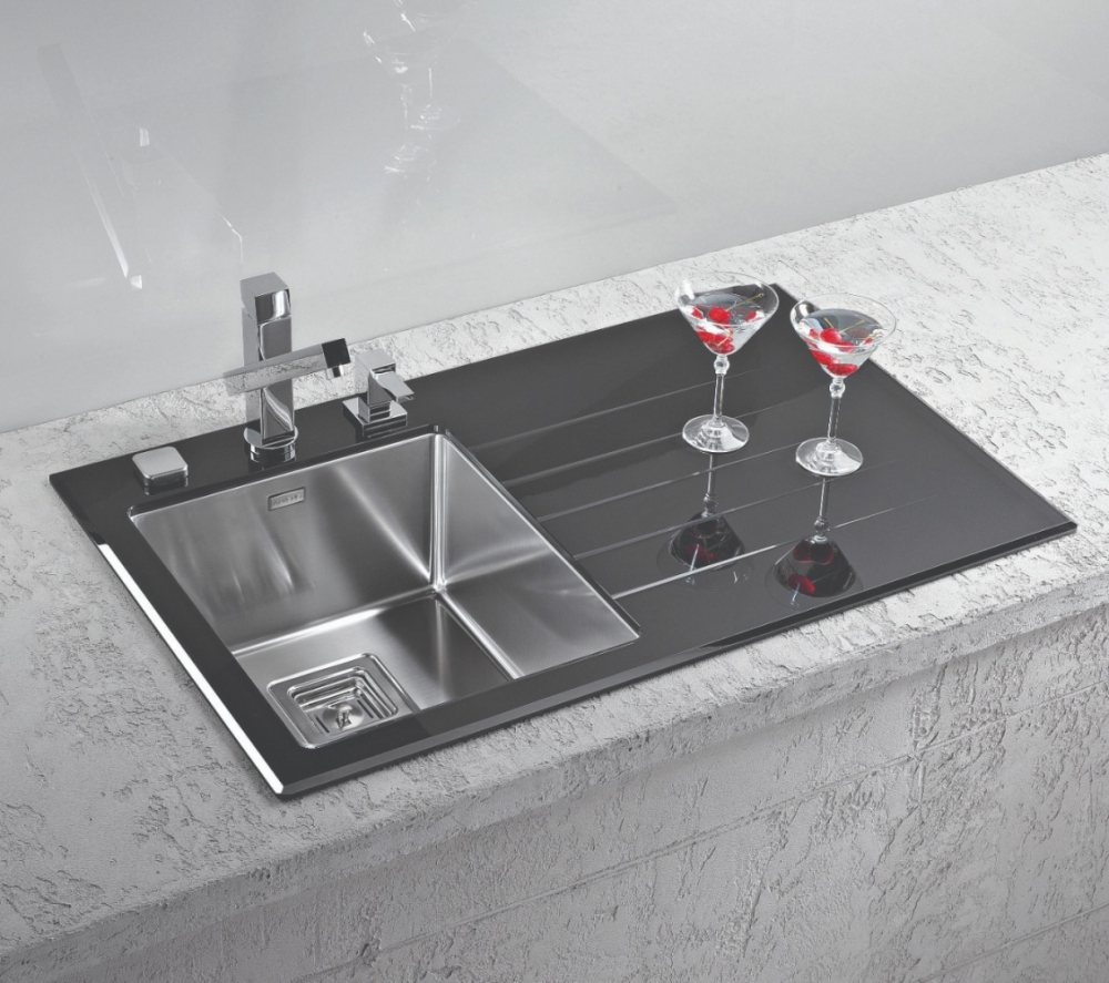 AS-Crystall 10 inset sink, glass
