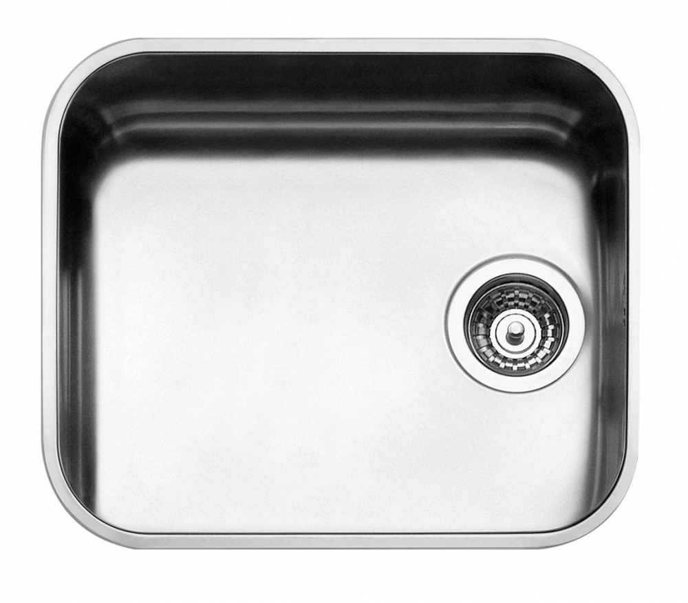 DE-Alexandria 3 square stainless undermount kitchen sink