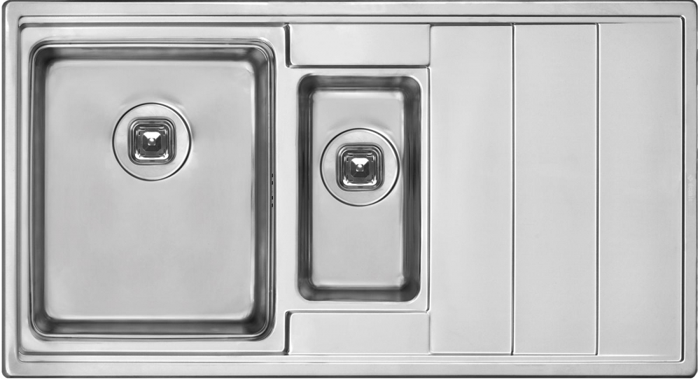 DE-Bler  2 stainless steel kitchen sinks