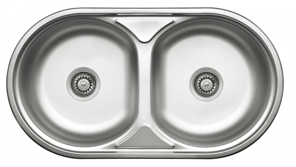 DE-Duet double undermount stainless sink