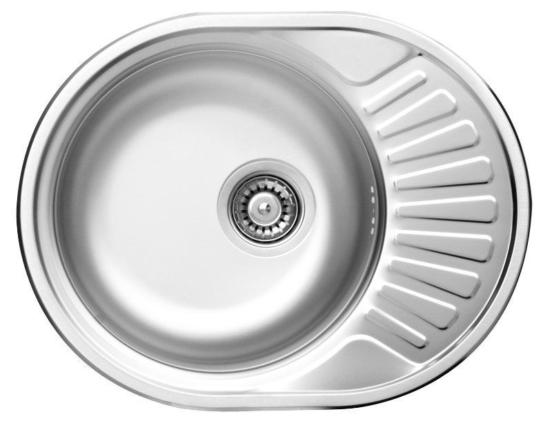 DE-Twist 1 round stainless undermount kitchen sink