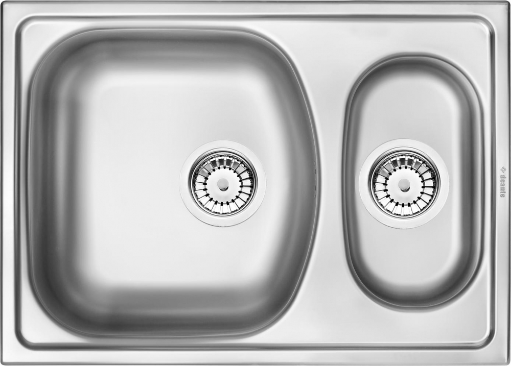 DE-Xylo 4 double stainless steel undermount sink