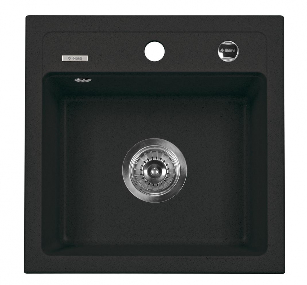 DE-Zoa 2 black granite kitchen sink