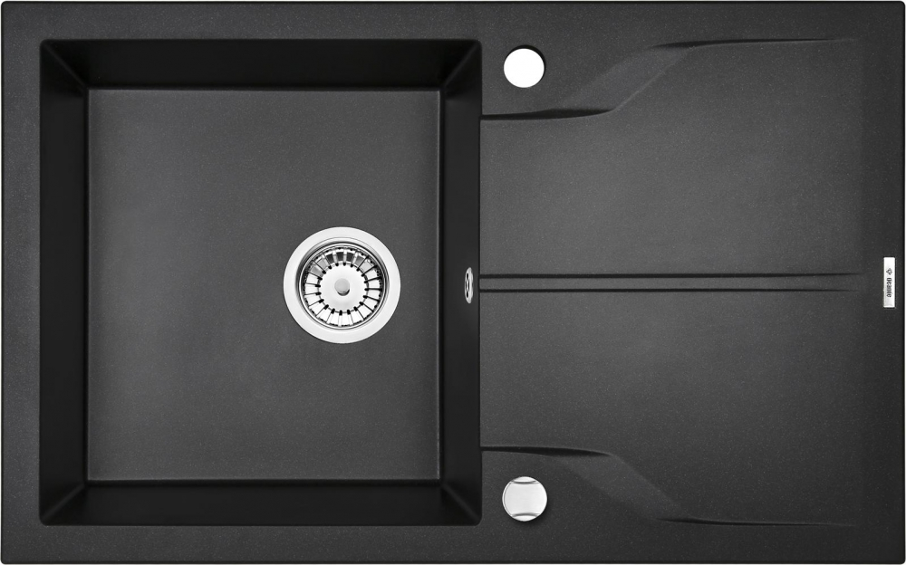 DE-Andante 2 black kitchen sink