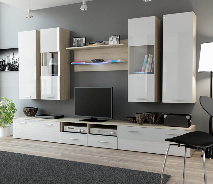 Toskan 6 - entertainment wall units