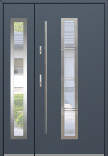 Fargo 12B DB - front doors with side panels