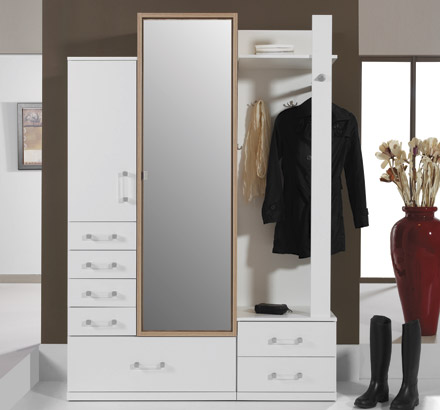 Ego - white hall wardrobe