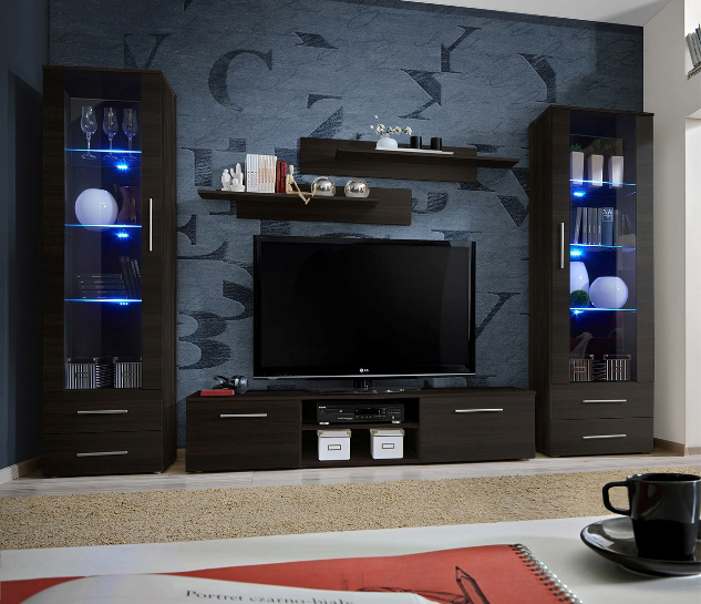 Telia 3 - wenge entertainment center