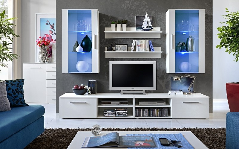 Oregon 2 - white entertainment center