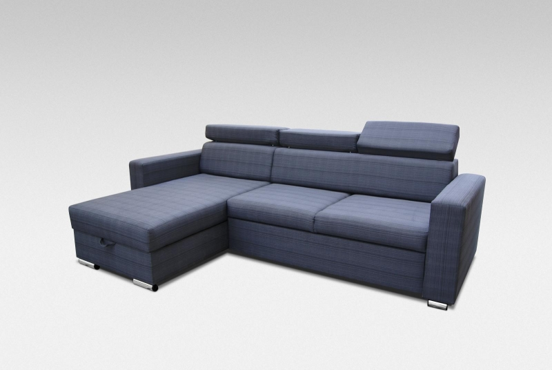 HUGO ART - Fabric corner sofa bed