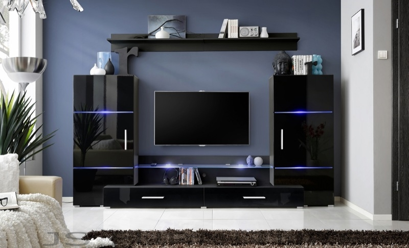 Impres 1 - black entertainment center
