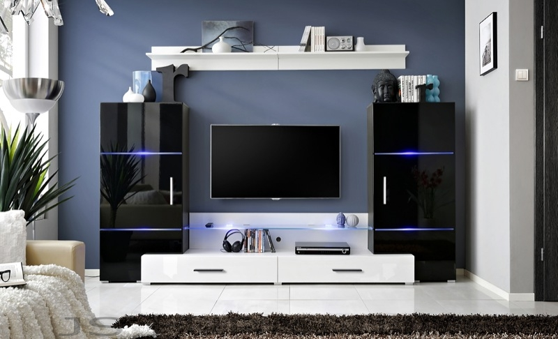Impres 3 - white tv media stands