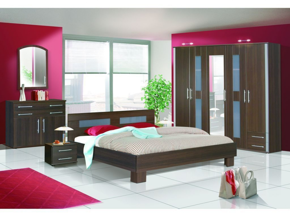 LONDON - oak cantori black glass or venge opal glass bedroom set
