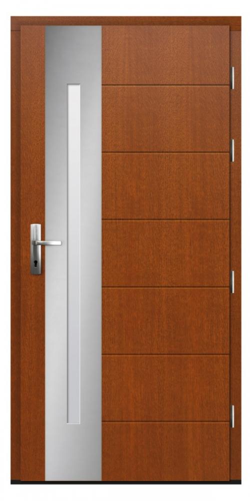 Longcal - solid wood front doors / oak or pine entrance door