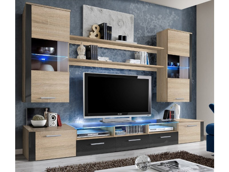 Lumia 5 - oak modern tv console