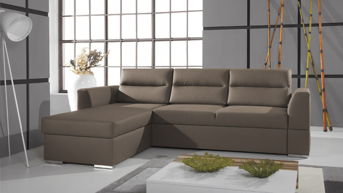 FLOO III - Faux Leather corner sofa