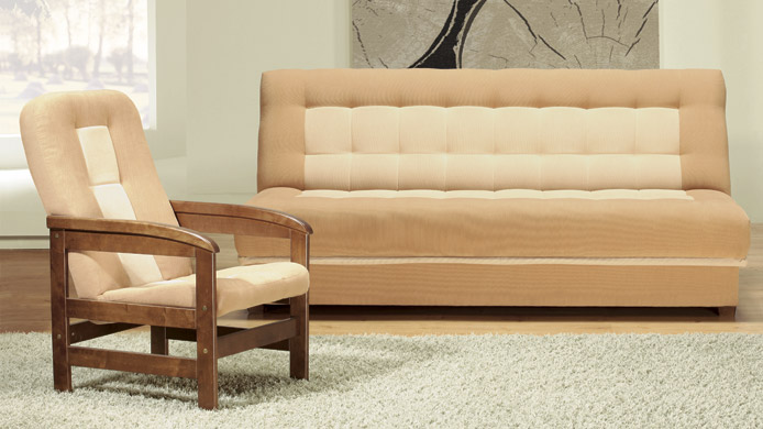 Toff - Fabric modern sofa bed