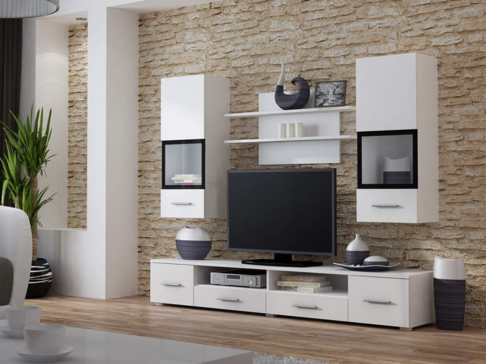 Alto 1 - living room white wall units