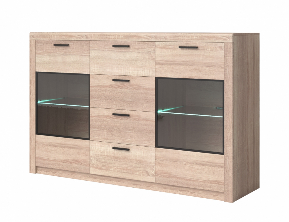 Nemezis TYP25 - sonoma oak chest of drawers