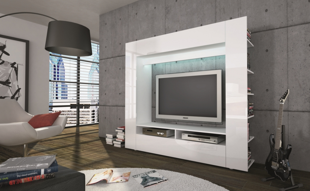 Olly- white comfortable Wall Unit